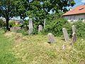 Jewish gravestones in Belvárosi cemetery, Esztergom, Hungary.jpg