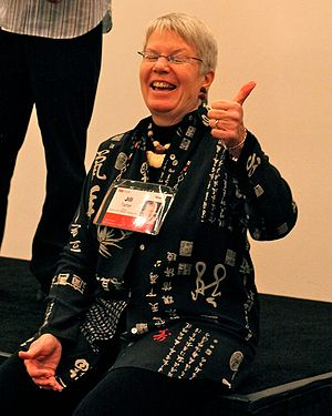 Jill Tarter - Tarter at TED. Photograph by Steve Jurvetson.