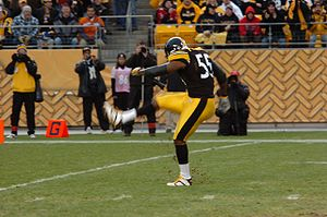 Joey Porter - Porter during a Steelers game in 2006