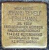 """Stolperstein für Johann """"Rukeli"""" Trollmann"""