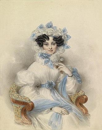 Princess Henrietta of Nassau-Weilburg - Image: Johann Nepomuk Ender Portrait Henriette von Österreich 1809
