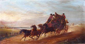 Tally-ho - Image: John Charles Maggs The Mail Coach