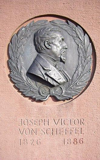 Joseph Victor von Scheffel - A memorial to von Scheffel in the Heidelberg Castle Schlossgarten (Hortus Palatinus).