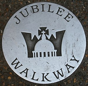 Jubilee Walkway - A ground marker for the Jubilee Walkway