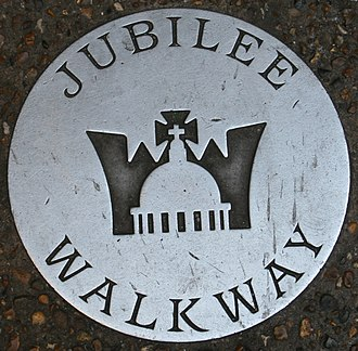 Jubilee Walkway - A ground marker for the Jubilee Walkway