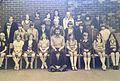 Julie Ann Cosgrove and pupils at Woodkirk High school Morley.jpg