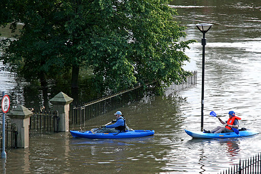 June floods Yorkshire canoes