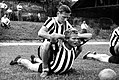 Juventus FC (ca. 1940s–50s) - Boniperti and Præst in training.jpg