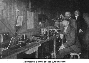 Karl Ferdinand Braun - 24 September 1900: Bargman, Braun and telegraphist at wireless station Helgoland