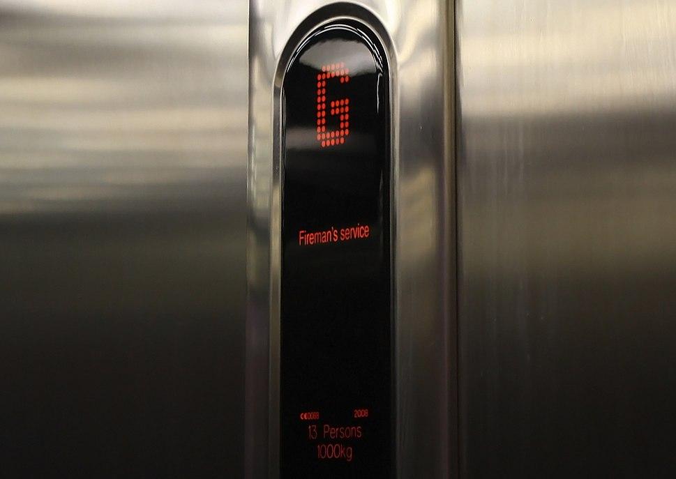 KONE Ecodisc Elevator in Fireman's Mode
