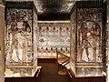 KV17, the tomb of Pharaoh Seti I of the Nineteenth Dynasty, Pillared Chamber F, left pillar Seti before Hathor as Goddess of the West, right pillar Seti before Isis, Valley of the Kings, Egypt (49846646197).jpg