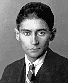 ddcdb6aa0eae Black-and-white photograph of Kafka as a young man with dark hair in