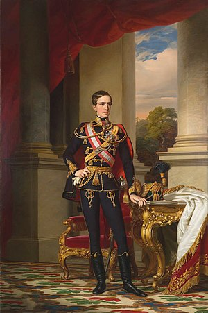 Sissi (film) - Portrait of the young emperor Franz Joseph in Hungarian uniform (1853, by Miklós Barabás)