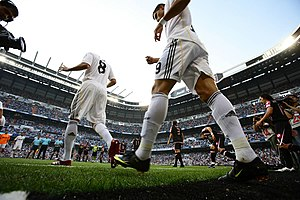 Kaka and Cristiano Ronaldo of Real Madrid%2C August 29%2C 2009