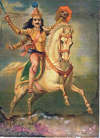 Kalki - Kalki Avatar by Raja Ravi Varma