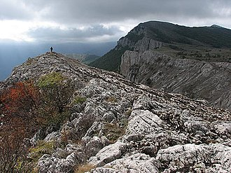 Crimean Mountains - Image: Karabi mountain plateau