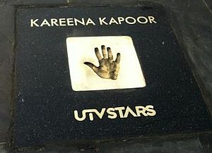 Walk of the Stars - Kareena Kapoor's hand print at the walk of the Stars