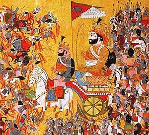Karna - A 19th century artist's imagination of Karna