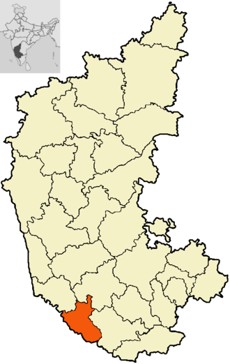 Pattole Palome - Kodagu: home of the Kodavas shown above in the map of Karnataka,India (in orange)