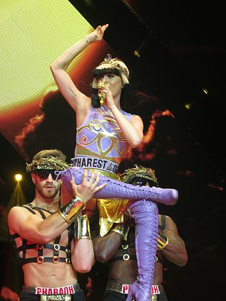 "Prism (Katy Perry album) - Perry performing ""Legendary Lovers"" at the Prismatic World Tour"