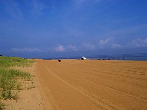 Keansburg, New Jersey - An early morning view of the beach in Keansburg circa August 2005