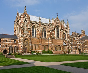 Keble College Chapel as viewed across the quad...
