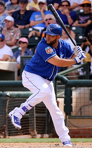 Kendrys Morales - Morales batting for the Kansas City Royals