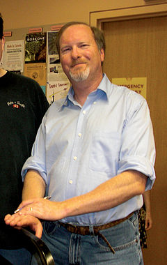 Kevin J Anderson at Book Signing Toronto Aug 18 2009.jpg