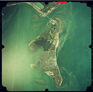 Key Biscayne - Aerial view of Key Biscayne in 1999