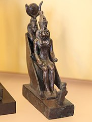 Khamkhonsou worshiping Isis and Horus-E 9421