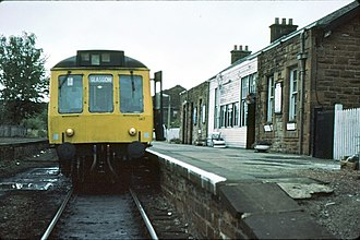 Kilmacolm railway station - Kilmacolm railway station in 1979