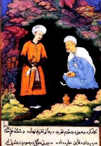 Safa Khulusi - Image: King Dabshalim visits Bidpai from Kalila wa Dimna