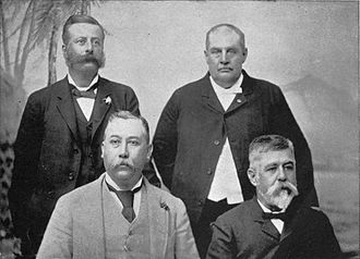 Peter Cushman Jones - 1892 Cabinet, second from right