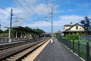 New York, Providence and Boston Railroad - Former New York, Providence and Boston line  (now Amtrak), Kingston, Rhode Island