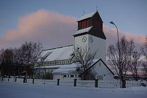Kirkenes Church - Image: Kirkenes Kirche Winter