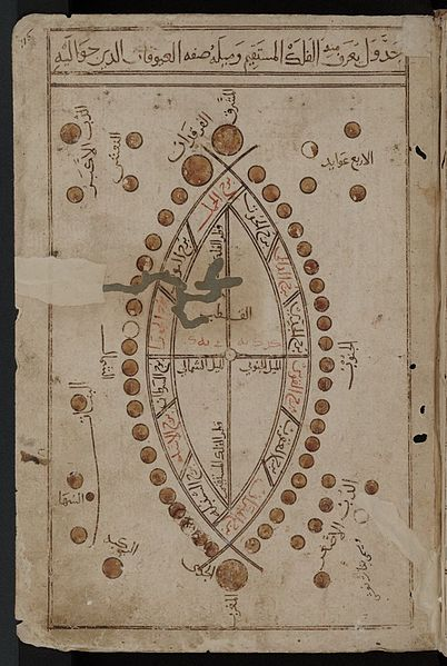 arabic manuscript curved design