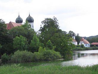Seeon Abbey - Seeon Abbey from Bräuhausen