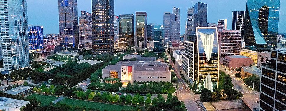 Klyde Warren Park and Dallas%27 Skyline