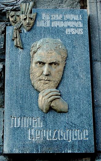 Khoren Abrahamyan - Knoren Abrahamyan's plaque in Yerevan