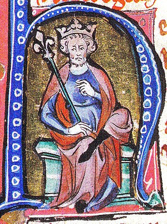 Wulfstan (died 1023) - Cnut from a medieval illuminated manuscript