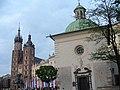 Kościoły Św.Wojciecha oraz Mariacki na Rynku Głównym - panoramio.jpg