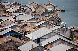 Floating village in Kampong Cham