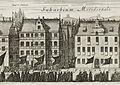 Kopparstick av Dahlberg från Karl X Gustavs begravning i Stockholm Medusa 4 Järntorget.jpg