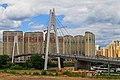 Krasnogorsk near Myakinino - footbridge over Moskva 06-2015.jpg