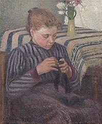 Woman Mending