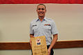 Kyle Vrable receives the William R. Flores award -- 110420-G-0000X-005.jpg