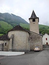 Lées (Lées-Athas, Pyr-Atl, Fr) L'église coté chevet.JPG