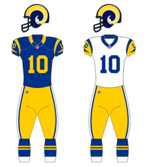 1993 Los Angeles Rams season - Image: LA Rams Uniforms