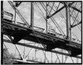 LOWER CHORD-FLOOR STRUCTURE DETAIL OF THROUGH TRUSS; VIEW TO NORTHWEST - Nebraska City Bridge, Spanning Missouri River near Highway 2 between Nebraska and Iowa, Nebraska City, HAER NEB,66-NEBCI,5-26.tif