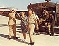 LTG Almgren, LTG Shoemaker, COL Geijer, LTC Hamilton at Robert Gray Army Airfield at Fort Hood in 1975. MILIF.003940.jpg